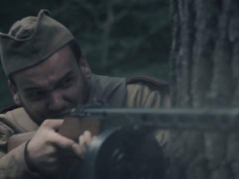 Natáčení minifilmu z 2. světové války