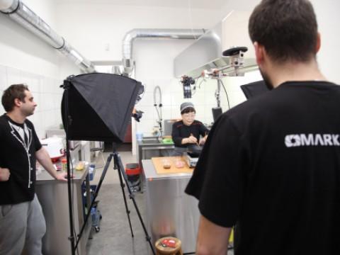 Filming video recipes for Korean bistro J'S Kitchen