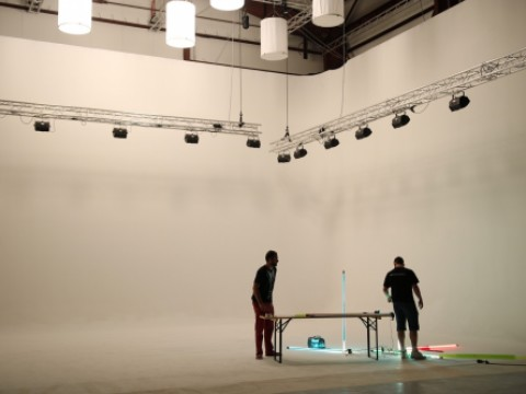 Shooting music clip for rapper and singer from Thookz production