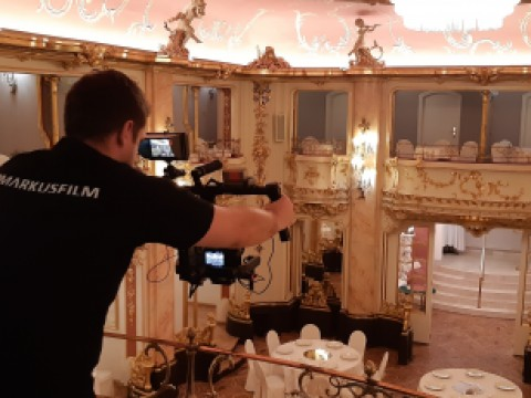 Shooting hotel video pro Grand Hotel Bohemia