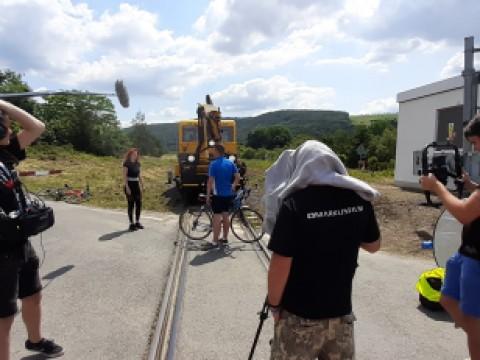 Natáčení spotu pro Správu železnic