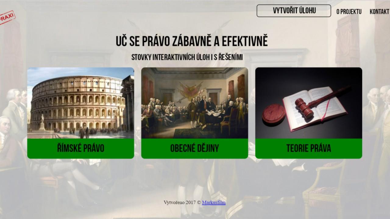 Webová aplikace Právo v praxi